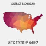 Mappa dell'estratto di U.S.A. Fotografie Stock Libere da Diritti