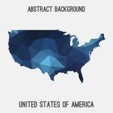 Mappa dell'estratto di U.S.A. Immagini Stock