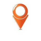 Mappa dell'icona Fotografia Stock