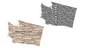 Mappa dell'illustrazione di stato di vettore di Washington Illustrazione Vettoriale