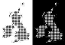 Mappa dell'Irlanda e di Dot Great Britain royalty illustrazione gratis