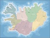 Mappa dell'Islanda Fotografia Stock