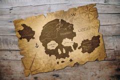 Mappa dell'isola del pirata royalty illustrazione gratis