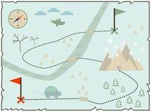 Mappa dell'isola del tesoro Fotografia Stock