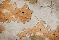 Mappa dell'isola del tesoro del pirata illustrazione vettoriale