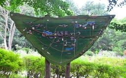 Mappa dell'isola di Nami immagine stock