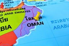 Mappa dell'Oman Fotografia Stock Libera da Diritti