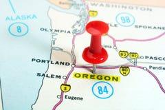 Mappa dell'Oregon U.S.A. Immagini Stock Libere da Diritti