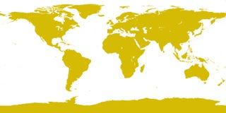 Mappa dell'oro del mondo Fotografie Stock