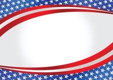 Mappa della bandiera americana Immagini Stock Libere da Diritti