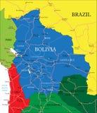 Mappa della Bolivia Fotografia Stock Libera da Diritti