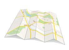 Mappa della città Fotografie Stock