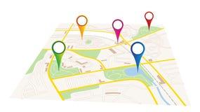 Mappa della città Immagini Stock