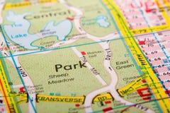Mappa della città della via Fotografie Stock