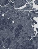 Mappa della città di Boston, U.S.A. immagine stock