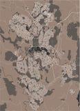 Mappa della città di Canberra, territorio della Capitale Australiana, Australia royalty illustrazione gratis