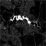 Mappa della città di Canberra, territorio della Capitale Australiana, Australia illustrazione vettoriale