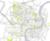 Mappa della città di Chongqing, Cina royalty illustrazione gratis