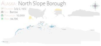 Mappa della città di North Slope nell'Alaska royalty illustrazione gratis