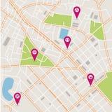 Mappa della città di vettore Fotografia Stock