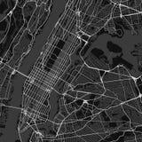 Mappa della città di vettore di New York in bianco e nero royalty illustrazione gratis