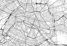 Mappa della città di vettore di Parigi in bianco e nero illustrazione vettoriale