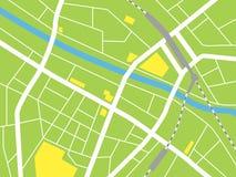 Mappa della città, illustrazione di vettore Immagini Stock Libere da Diritti