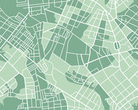 Mappa della città senza cuciture Fotografia Stock
