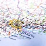 Mappa della città di Houston Fotografie Stock