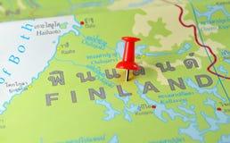 Mappa della Finlandia Fotografia Stock