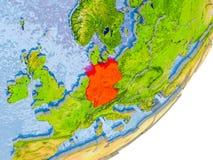 Mappa della Germania su terra Fotografia Stock
