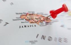 Mappa della Giamaica Fotografia Stock