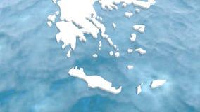 Mappa della Grecia 3d Fotografie Stock