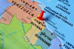 Mappa della Guyana Immagine Stock Libera da Diritti