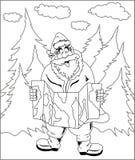 Mappa della lettura di Santa Claus royalty illustrazione gratis