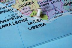 Mappa della Liberia Fotografia Stock Libera da Diritti