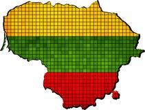 Mappa della Lituania con la bandiera dentro Immagine Stock