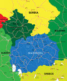 Mappa della Macedonia Immagine Stock Libera da Diritti
