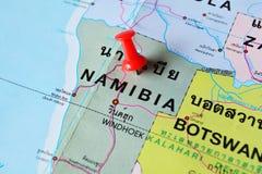 Mappa della Namibia Fotografia Stock Libera da Diritti