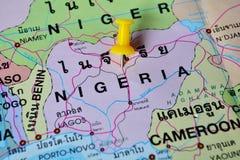 Mappa della Nigeria Fotografia Stock Libera da Diritti