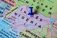 Mappa della Nigeria Immagini Stock Libere da Diritti