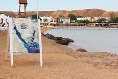 Mappa della penisola del Sinai sulla lavagna Fotografia Stock