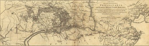 Mappa della Pensilvania Fotografie Stock Libere da Diritti