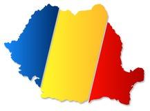 Mappa della Romania Immagine Stock