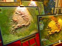 Mappa della Romania Fotografie Stock