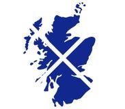 Mappa della Scozia Immagine Stock