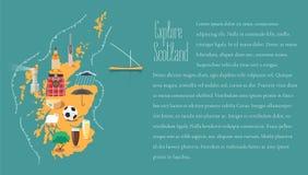 Mappa della Scozia nell'illustrazione del modello dell'articolo, elemento di progettazione royalty illustrazione gratis