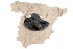Mappa della Spagna Immagine Stock Libera da Diritti
