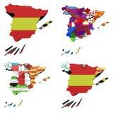 Mappa della Spagna Immagini Stock Libere da Diritti