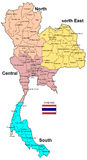 Mappa della Tailandia immagini stock libere da diritti